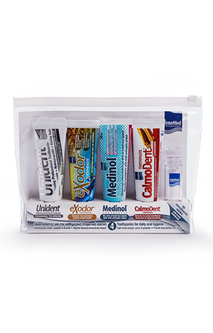 Toothpastes travel kit